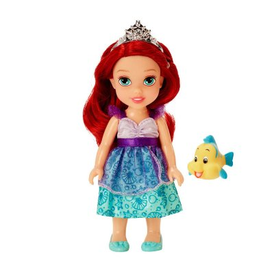 Muñeca pequeña Princesas Disney Ariel c/mascota