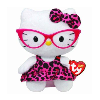 Peluche TY Beanie Boos Hello Kitty con gafas 15cm