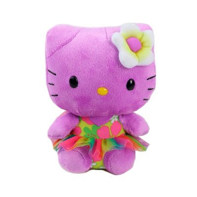"Peluche TY Beanie Babies Hello Kitty Púrpura 15cm 6"""