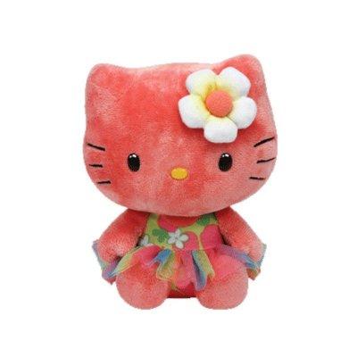 "Peluche TY Beanie Babies Hello Kitty rosa 15cm 6"""