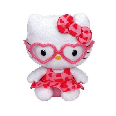 Peluche TY Beanie Boos Hello Kitty con gafas y lazo 15cm