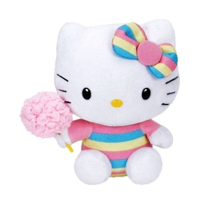 Peluche TY Beanie Boos Hello Kitty con algodón azúcar 15cm