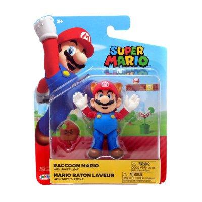 Figura c/hoja Super Mario Raccoon 10cm
