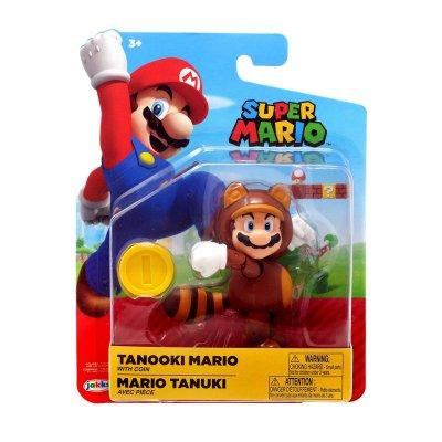 Figura c/moneda Super Mario Tanooki 10cm
