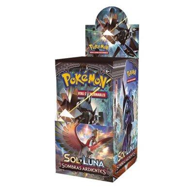 Sobres de 3 cartas Pokémon Sol y Luna Sombras Ardientes