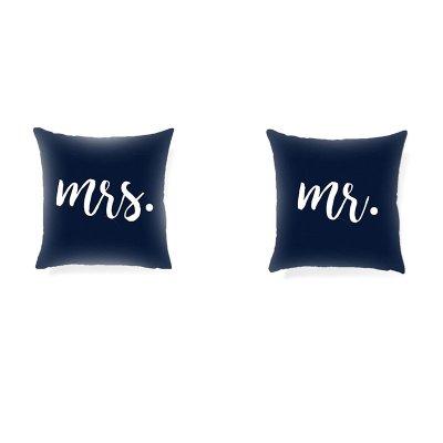 Funda cojín Mr & Mrs 45x45cm