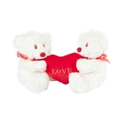 Peluche osos c/corazón Love 20cm