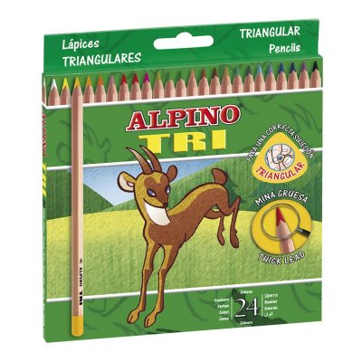 Wholesaler of Lápices Alpino Tri 24 colores