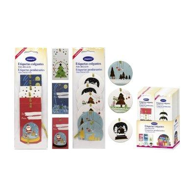 Etiquetas colgantes para regalo Navidad