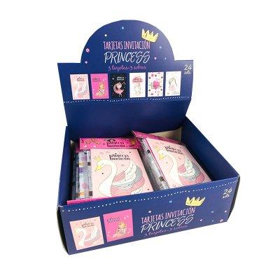 Expositor tarjetas invitación Princesas