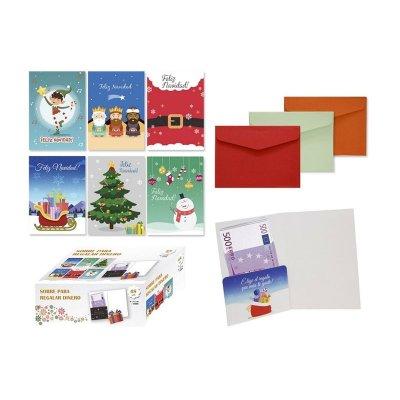 Expositor sobres para regalar dinero Navidad