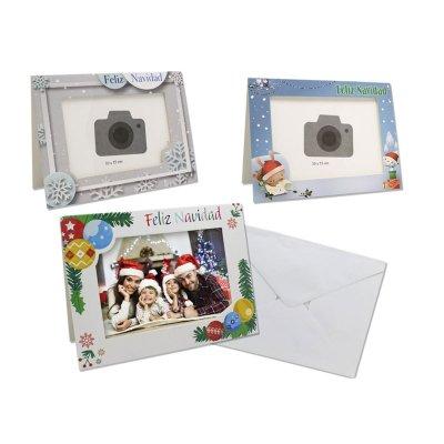 Set 2 marcos de fotos c/sobre Feliz Navidad