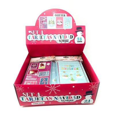 Expositor tarjetas Navidad c/sobres