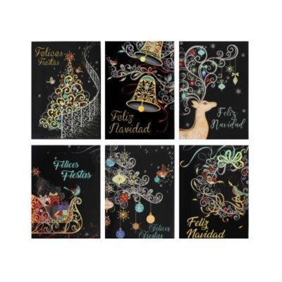 Tarjetas c/sobres dorados Navidad