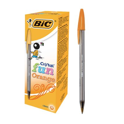 Bolígrafo Bic Cristal Fun naranja 1.6mm
