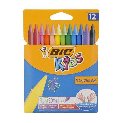 Caja de 12 ceras de colores Bic Kids Plastidecor