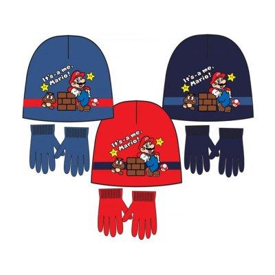 Set gorro y guantes Super Mario