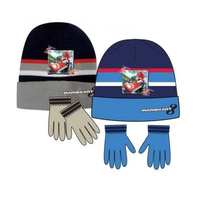 Set gorro y guantes Mario Kart Super Mario