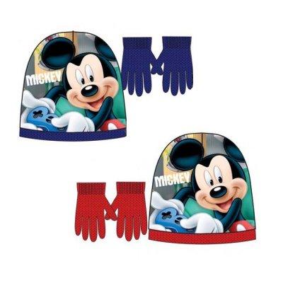 Set gorro guantes Mickey 2 colores