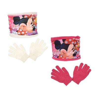Braga cuello guantes c/mascara Minnie Disney 2 colores