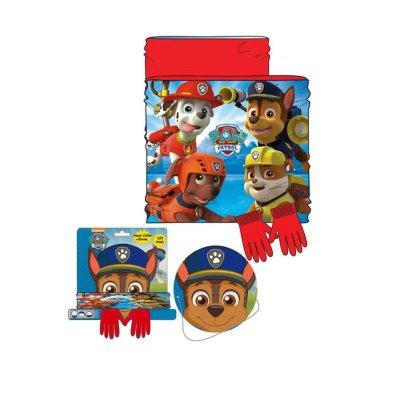 Set braga cuello polar y guantes Paw Patrol - rojo