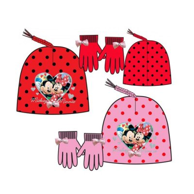Set gorro y guantes Mickey y Minnie
