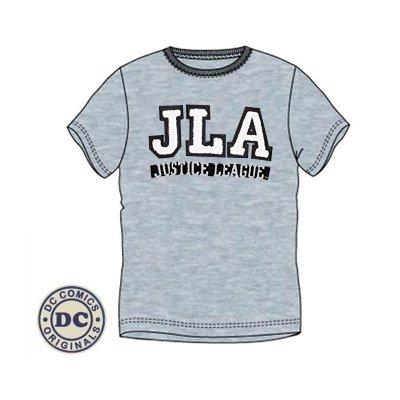 Camiseta adulto Liga de la Justicia JLA bordado gris
