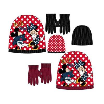 Set gorro guantes Minnie Fun 54cm
