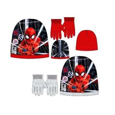 Set gorro guantes Spiderman Marvel