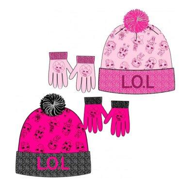 Set gorro guantes LOL Surprise Glitter