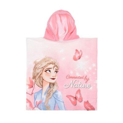 Poncho toalla con capucha microfibra Elsa Frozen 2