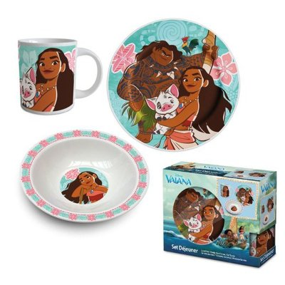Set desayuno 3 piezas cerámica Vaiana (Moana)