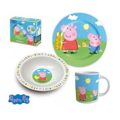 Set desayuno 3 piezas cerámica Peppa Pig