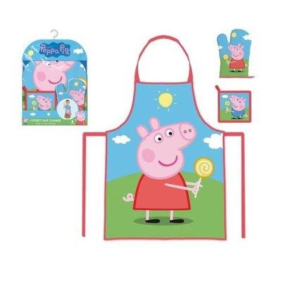 Conjunto delantal y guante cocina Peppa Pig