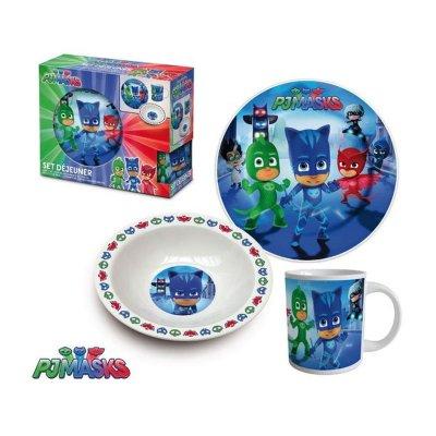 Set desayuno 3 piezas cerámica PJ Masks