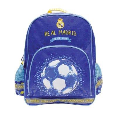 Mochila azul 40cm con cremallera Real Madrid