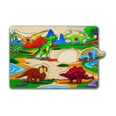 Puzzles de madera Dinosaurios 6pzs
