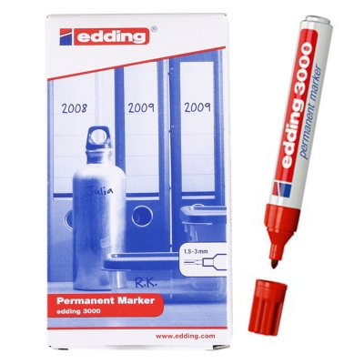 Wholesaler of Rotulador permanente Edding 3000 02-rojo 1.5-3mm