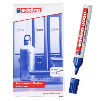 Distribuidor mayorista de Rotulador permanente Edding 3000 03-azul 1.5-3mm