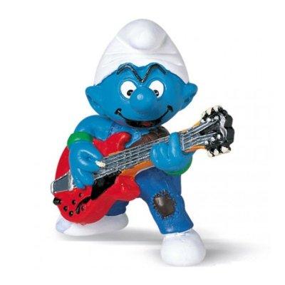 Figura Los Pitufos - Pitufo Guitarrista