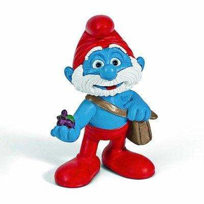 Figura Los Pitufos - Papá Pitufo con bolsa