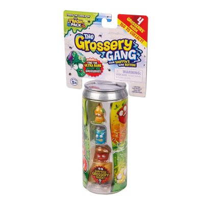 The Grossery Gang regular pack cola-can with 4 characters