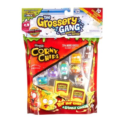 Pack 10 figuras Corny Chips The Grossery Gang
