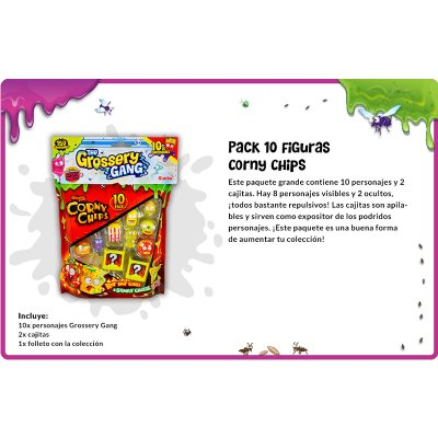Wholesaler of The Grossery GangCorny Chips Large Pack with 10 characters