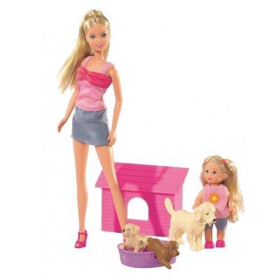Wholesaler of Set Muñecas Steffi y Evi Happy Animal - versión perritos