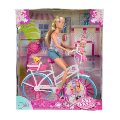 Set Muñecas Steffi Love en bicicleta Bike Tour