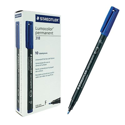 Rotulador permanente Lumocolor 318 Staedtler azul 0.6mm