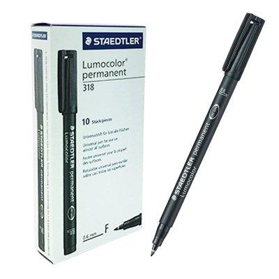 Rotulador permanente Lumocolor 318 Staedtler negro 0.6mm