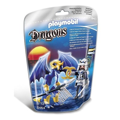 Dragón Hielo con guerrero Playmobil Dragones
