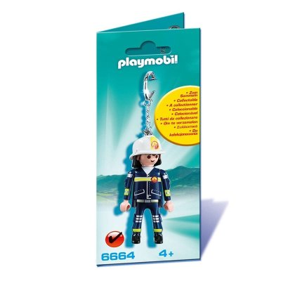 Llavero figura Bombero Playmobil